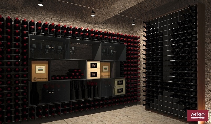 Gallery esigo 2 net casier a bouteille metallique for Cantine arredo