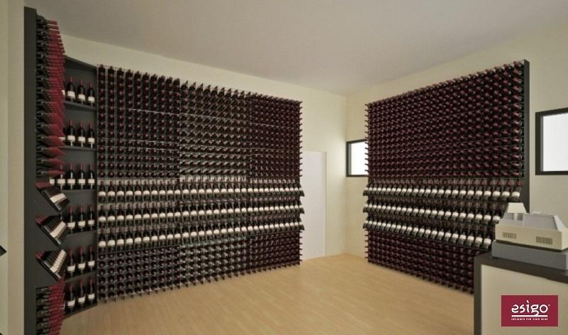gallery weinregal aus metall esigo 2 net. Black Bedroom Furniture Sets. Home Design Ideas