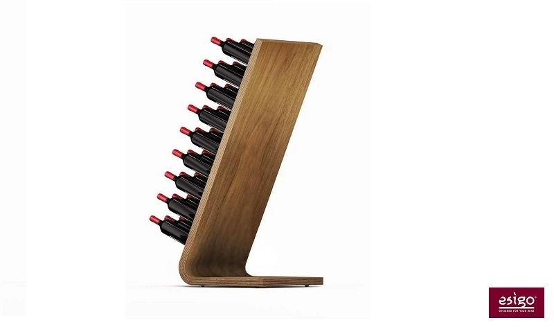 Esigo 4 wooden wine rack