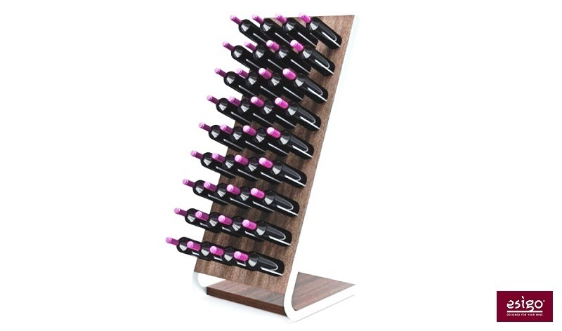Esigo 4 Tech wooden wine rack