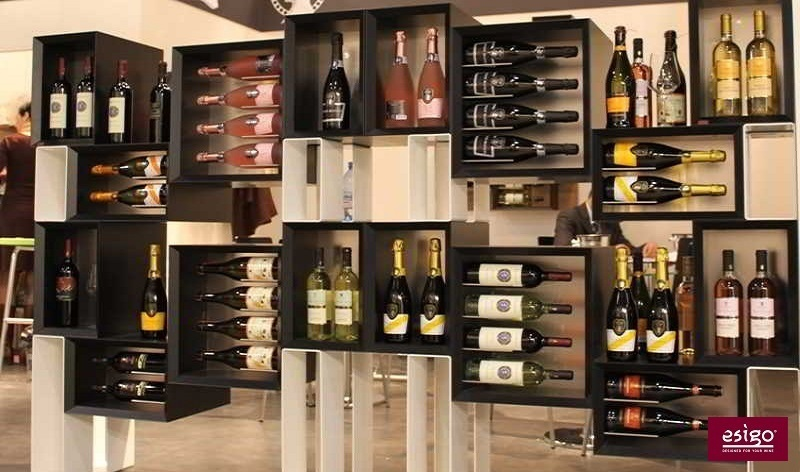 Modern Wine Cabinet Design gallery: esigo 5 floor wine rack