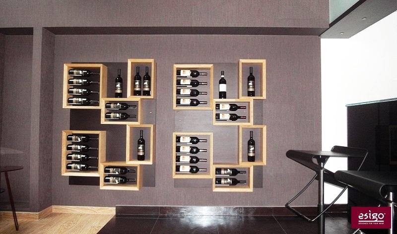 Gallery esigo 5 botellero de madera para pared - Botelleros de madera rusticos ...