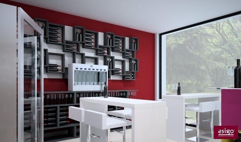 Gallery esigo 5 botellero de madera para pared - Wandbehang modern ...