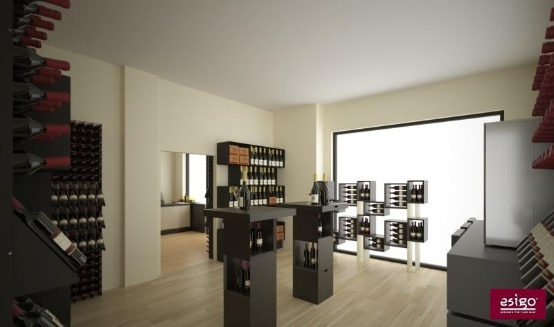 Agencement magasin vente de vin Esigo pour œnothèque