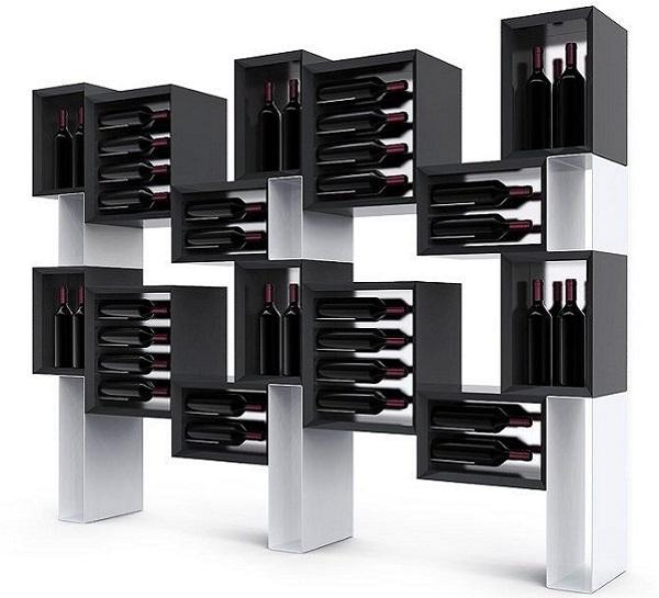 con el fin de exhibir 72 botellas, ideal para crear espacios con vino