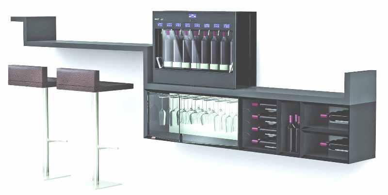 meuble bar vin esigo wss10. Black Bedroom Furniture Sets. Home Design Ideas