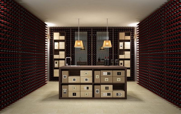 am nagement cave vin wall version. Black Bedroom Furniture Sets. Home Design Ideas