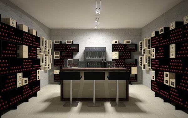 Cave vin design contemporain box version for Cave a vin design contemporain