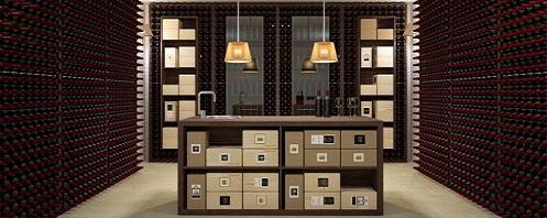 am nagement caves vin esigo. Black Bedroom Furniture Sets. Home Design Ideas